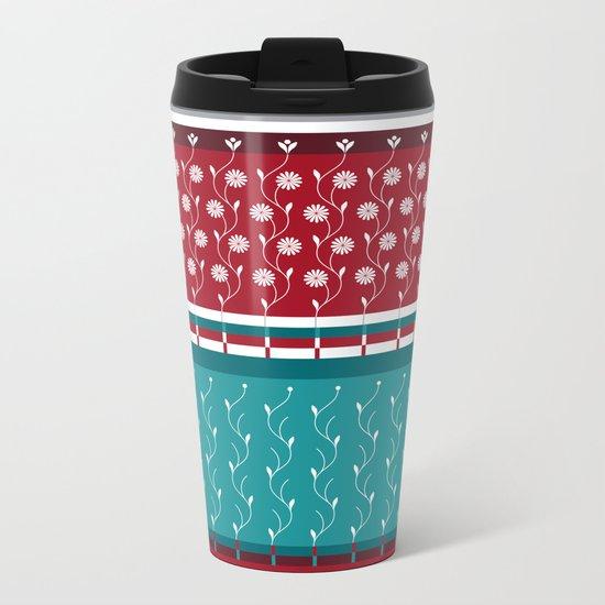 Winterflower Metal Travel Mug