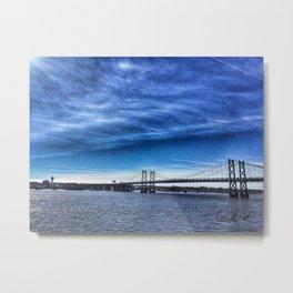 Iowa-Illinois Memorial Bridge - Looking Towards Moline Metal Print
