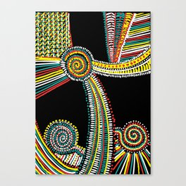Rasta Swirls Canvas Print
