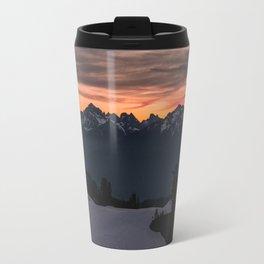 Rising Sun in the Cascades - nature photography Travel Mug