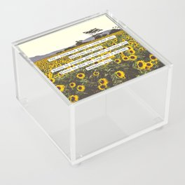 Jeremiah Sunflowers Acrylic Box