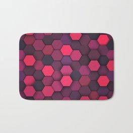 Geometric bright polygonal pattern  Bath Mat