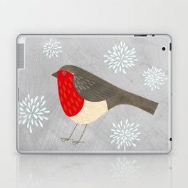Robin and Snowflakes Laptop & iPad Skin