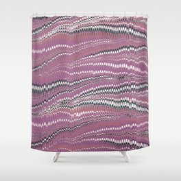 Electrified Ripples Pink Shower Curtain