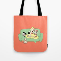 Watching Breaking Bad Tote Bag