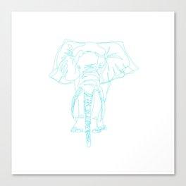 Lonely Elephant Canvas Print