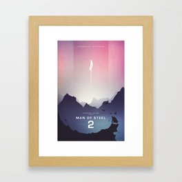 Man of Steel Poster Framed Art Print