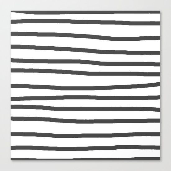 Simply Drawn Stripes in Simply Gray Canvas Print