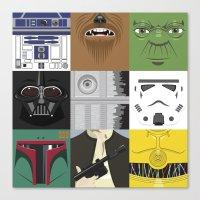 starwars Canvas Prints featuring Starwars combo by Alex Patterson AKA frigopie76