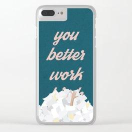 Work B***h Clear iPhone Case