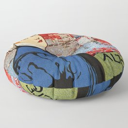 German artisanal art expo Dresden 1896 Floor Pillow