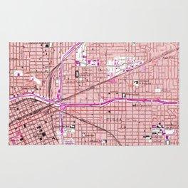 Vintage Map of Tulsa Oklahoma (1954) Rug