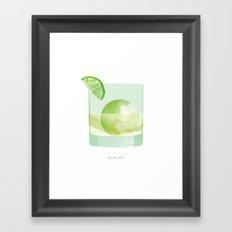 Cocktail Hour: Gimlet Framed Art Print