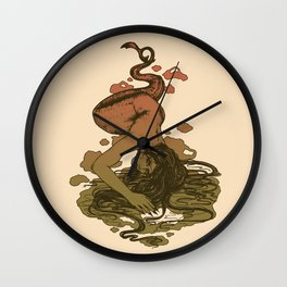 Nereid Green and Red Wall Clock