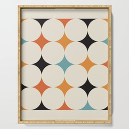 Art print mid century modern, mid century modern art, mid century modern decor, prints, abstract art Serving Tray