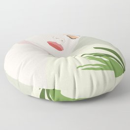 Meditate in Nature Woman Self-Care Floor Pillow