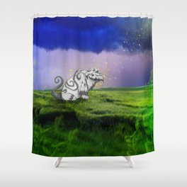 I Believe In Gruff Shower Curtain