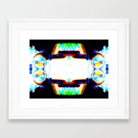 mercedes Framed Art Prints featuring Artful Mercedes  by OneLaneDesigns