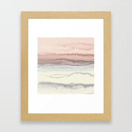 WITHIN THE TIDES - SNOW ON THE BEACH Framed Art Print