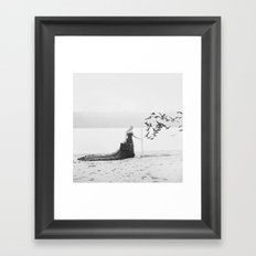 You never know what's on the other side Framed Art Print