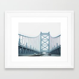The Ben Franklin Bridge Framed Art Print