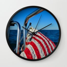 The Red White and Blue Wall Clock