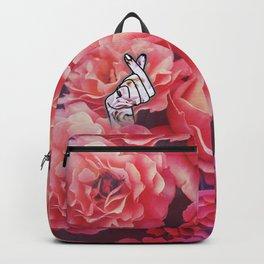 Love Finger Snap Floral Backpack