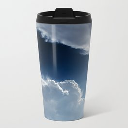Sky, clouds and lights. Metal Travel Mug