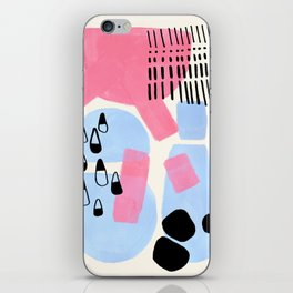 Fun Colorful Abstract Mid Century Minimalist Pink Periwinkle Cow Udder Milk Organic Shapes iPhone Skin