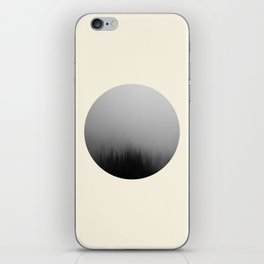 Spooky Foggy Forest Round Photo iPhone Skin