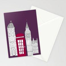 Night Sky // London Red Telephone Box Stationery Cards