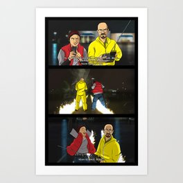 Breaking Bad to the Future  Art Print