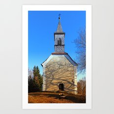 The village church of Hollerberg III | architectural photography Art Print