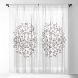 Steampunk Hat Mandala Sheer Curtain