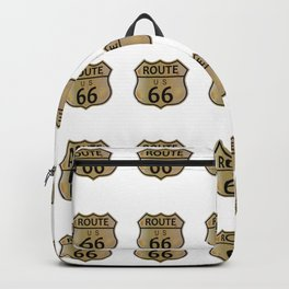 Old Route 66 Highway Sign Backpack