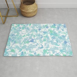 Blue and Green Mosaic Rug