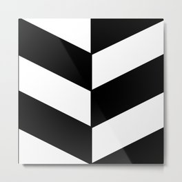 2017 COLLECTION|BLACK AND WHITE |DIAGONAL STRIPES Metal Print