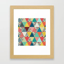 llama geo triangles Framed Art Print