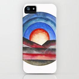 Geometric landscapes 01 iPhone Case