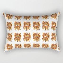 Eyes Series BROWN Rectangular Pillow