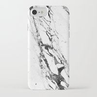 white marble iPhone & iPod Cases featuring Marble by Judith Abbott
