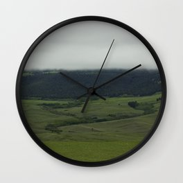 Low Clouds Wall Clock