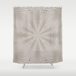 Silver Drapery Shower Curtain