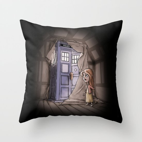 Bigger on the Inside! Throw Pillow