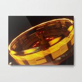 Spinning Lights Metal Print