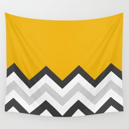 Color Blocked Chevron 17 Wall Tapestry