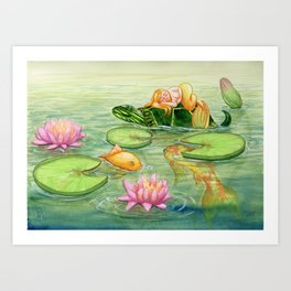 Dreaming Mermaid Art Print