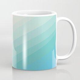 Pristine Beach Gradient Stripes Coffee Mug