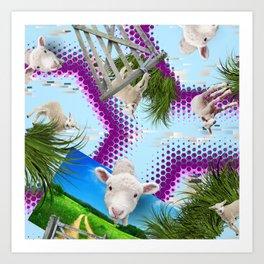 Spring Lamb. Art Print