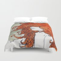 postcard Duvet Covers featuring Postcard to a Lover by Brent Braaten
